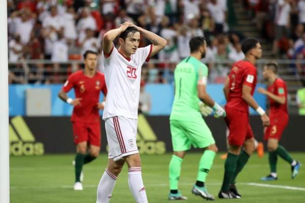 Portugal played a draw with Iran 1: 1