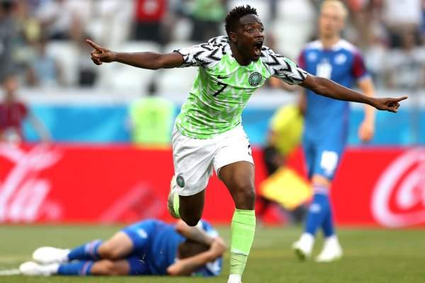 Nigeria win in the match with Iceland